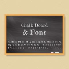 Vector Chalk Board. Vector illustration.