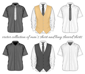 Short and long sleeve variants of shirt