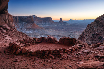 False Kiva at Dusk, Canyonlands National Park, Utah