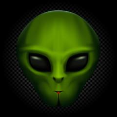 alien in transparent dark