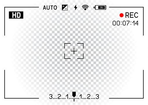 camera viewfinder transparent background