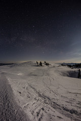 Mt. Dobratsch Winter Nightsky Panorama
