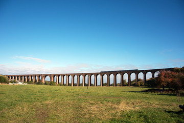 Culloden Viaduct with train