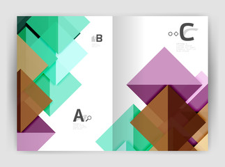 Abstract background with color triangles, annual report print backdrop