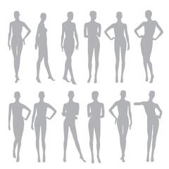 black silhouettes dummies fashion store