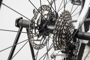 Close up of a Bicycle gears