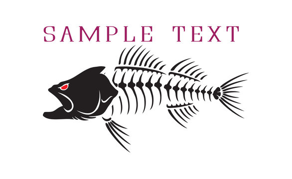 Figure skeleton evil bass fish