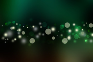 Abstract Light Green Bokeh Background