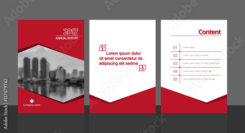 cover design for annual report or business catalog magazine flyer