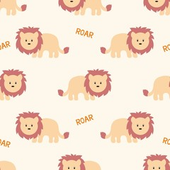 Stylized lion cartoon style. Background