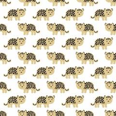 Stylized leopard cartoon style. Background