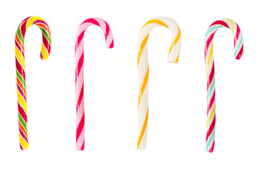 Fototapete - Set of Christmas striped candy canes