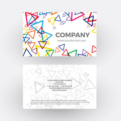 triangle, geometric abstract background. vector professional business card