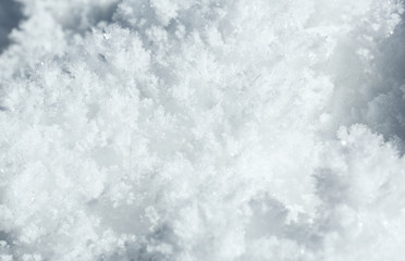 close up beautiful snowflake ..