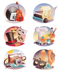 Arts Round Compositions Set