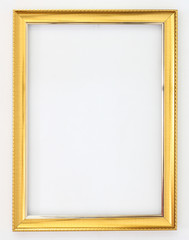 Frame gold on a white background.