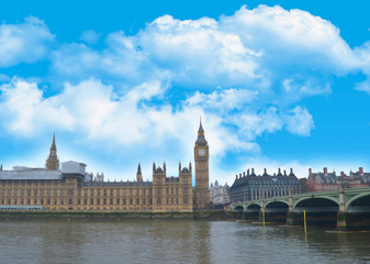 Postcard from London Palace of Westminster and Big Ben
