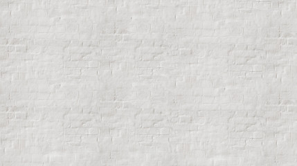 White wash  painted old brick wall  with plaster texture. Background  for text or image.