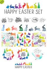 Big Easter vector set.