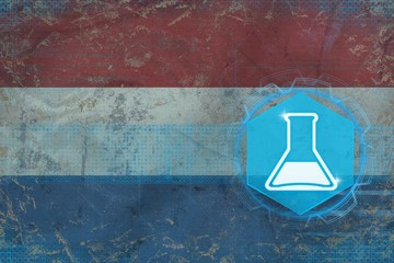 Netherlands chemistry. Chemical industry concept.