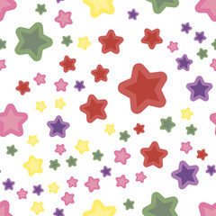 Seamless abstract pattern with stars. Vector illustration.