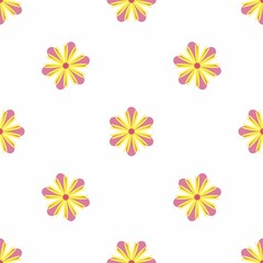 Exquisite floral ornament with random flowers. For fabric, wrapping paper, wallpaper, design and interior. Vector background.