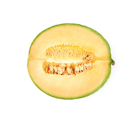 Half of a cantaloupe melon