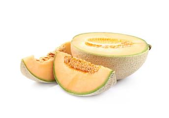 Sliced cantaloupe melon composition
