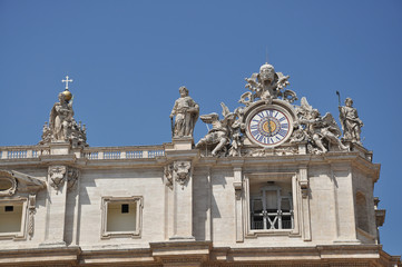 Fragment of colonnade of St. Peter's Basilica in Vatican City
