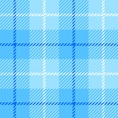 seamless Plaid fabric texture cells with stripes Scotland pattern light blue