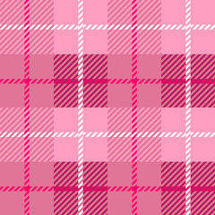 seamless Plaid fabric texture cells with stripes Scotland pattern light purple