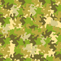 seamless pattern Protective camouflage  coloration  fatherland  . illustration