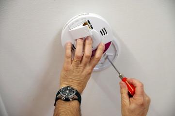 installation d'un détecteur de fumée