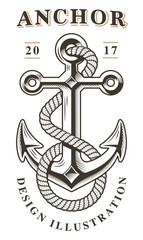 Vintage anchor emblem (raster version)