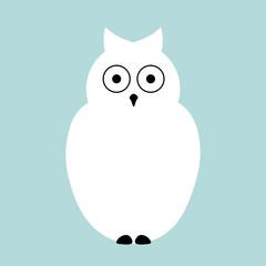 Vector flat Owl illustration animal background.
