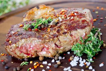 Aluminium Prints Grill / Barbecue Steak