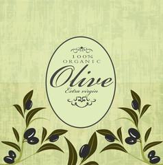 olive pattern label menu background
