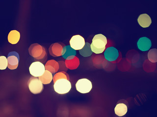 Night lights blurred bokeh background