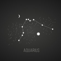 astrology elements  aquarius on black