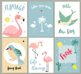 Vector set of different greeting cards