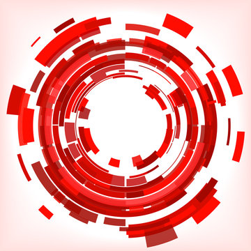 Red Abstract Circles Vector Background