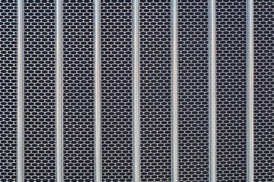 metal grid chrome truck front radiator texture