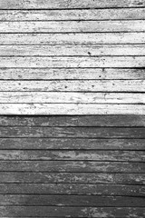 shelled fence black and white horizontal boards