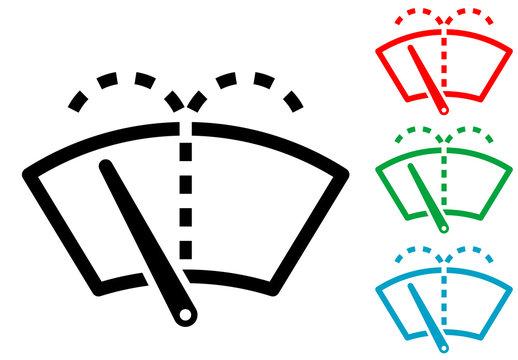 Icono plano limpiaparabrisas varios colores