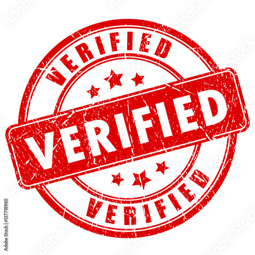 Verified Rubber Vector Stamp