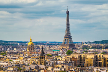 Skyline of Paris with Eiffel tower