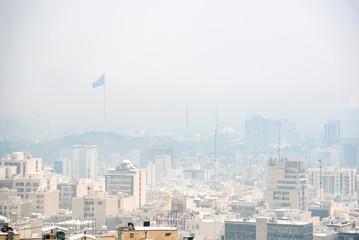 Mist covering desolate calm city