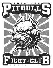 Pit bull illustration (raster version)