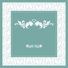 Floral ornaments background, square format