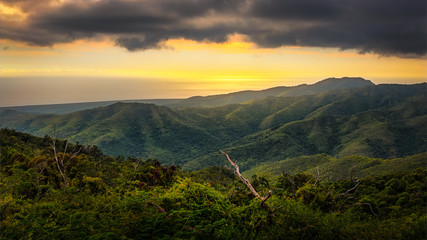 Sunset over Topes de collantes